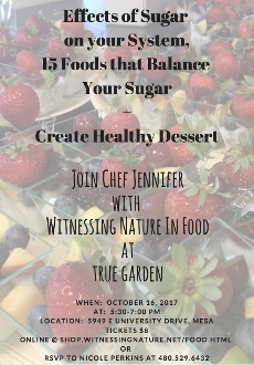 OCTOBER TRAINING AT TRUE GARDEN - EFFECTS OF SUGAR