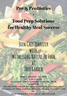 JANUARY TRAINING AT TRUE GARDEN - PRE AND PROBIOTICS